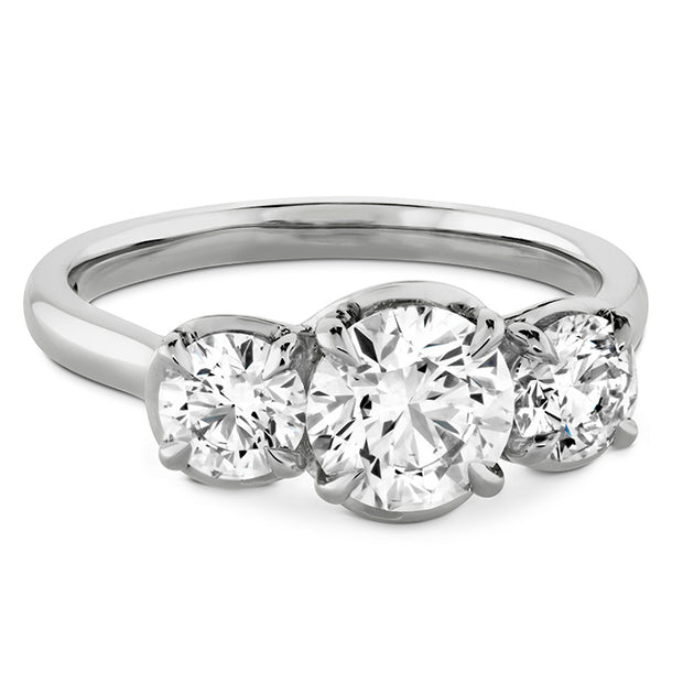 Hearts On Fire Juliette Three Stone Diamond Engagement Ring