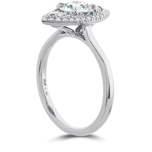 Hearts On Fire Juliette Marquise Halo Engagement Ring
