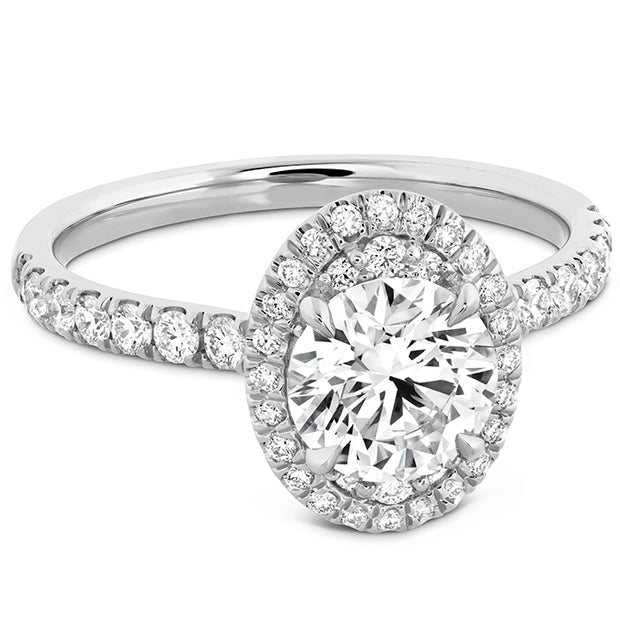 Hearts On Fire Juliette Oval Halo Diamond Engagement Ring