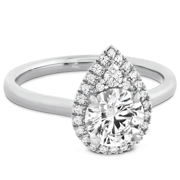 Hearts On Fire Juliette Pear Halo Engagement Ring
