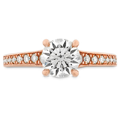 Hearts On Fire Liliana Milgrain Diamond Engagement Ring