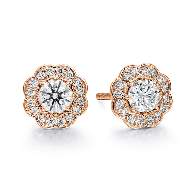 Hearts On Fire Lorelei Halo Stud Diamond Earrings