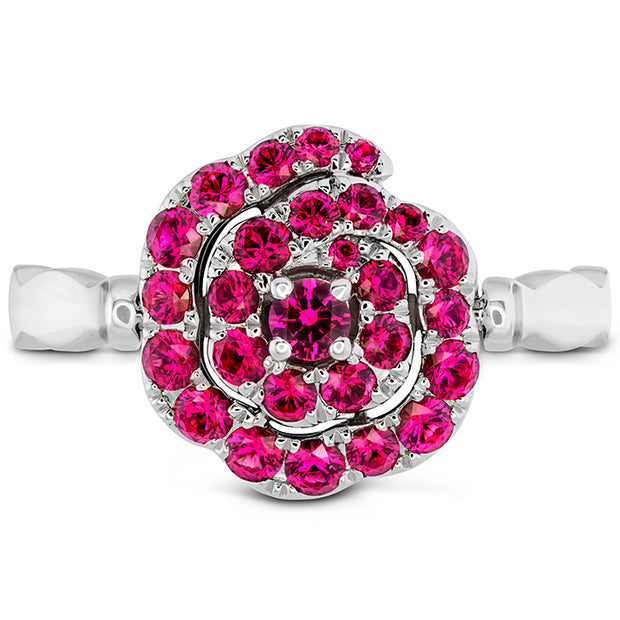 Hearts On Fire Lorelei Diamond and Ruby Floral Flip Ring