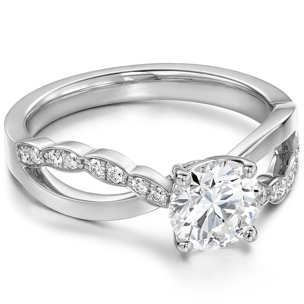 Hearts On Fire Lorelei Lorelei Diamond Twist Engagement Ring