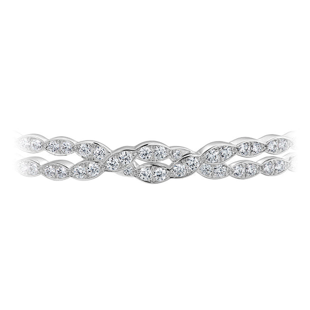Hearts On Fire Lorelei Floral Double Diamond Twist Bangle