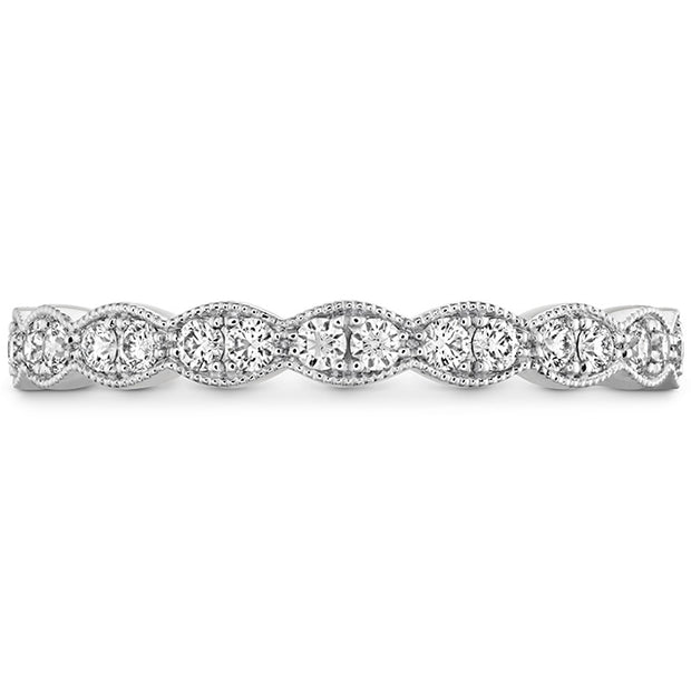 Hearts On Fire Lorelei Floral Milgrain Diamond Band