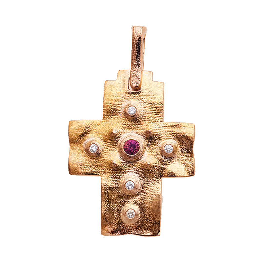 Alex Sepkus Raised Cross Pendant Necklace - M-100RS