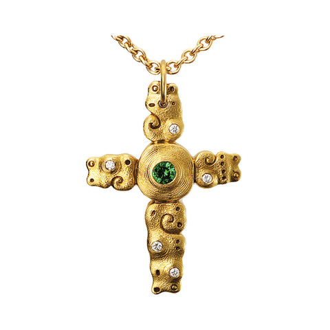 Alex Sepkus Swirl Cross Necklace - M-101