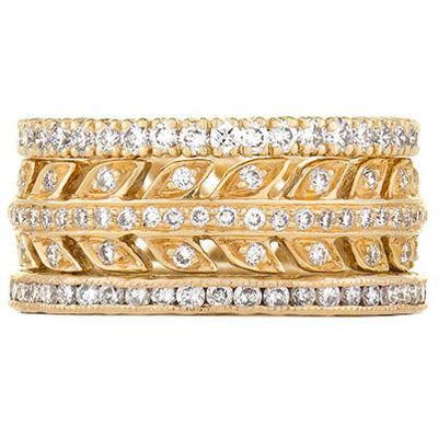 Sethi Couture Natural Elegance Diamond Stack Ring Set