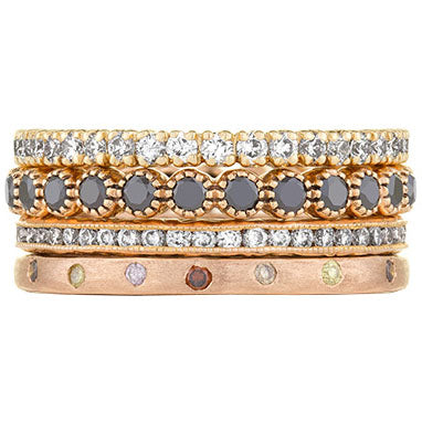 Sethi Couture Blush Diamond Stack Ring Set