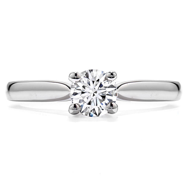 Hearts On Fire Purely Bridal Four Prong V Gallery Engagement Ring