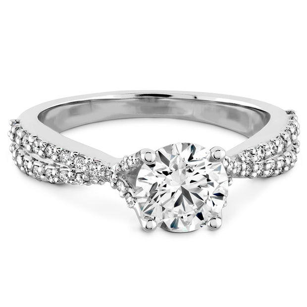 Hearts On Fire Simply Bridal Diamond Intensive Twist Engagement Ring