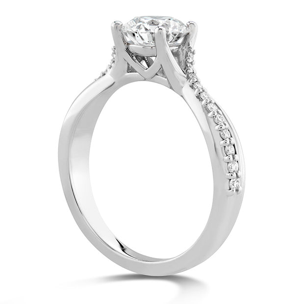 Hearts On Fire Simply Bridal Twist Diamond Engagement Ring