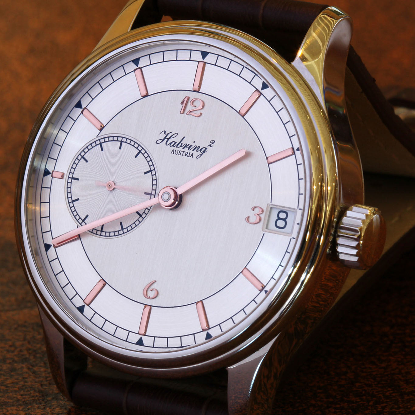 HABRING² SS Time Date watch