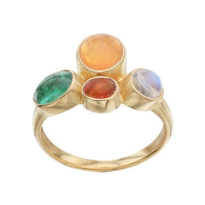 Steven Battelle Four Stone Bezel Ring