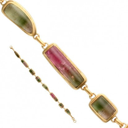 Steven Battelle Many Shape Tourmaline Bracelet