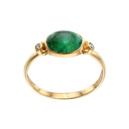 Steven Battelle Emerald and Diamond Ring