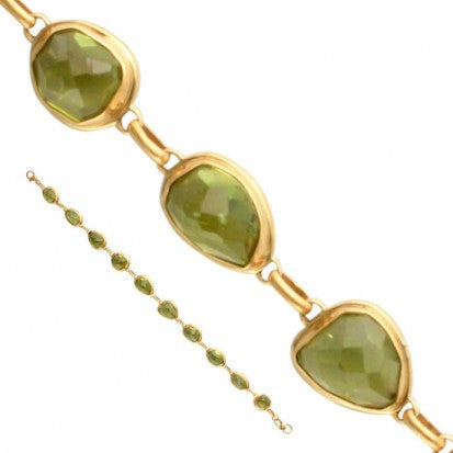 Steven Battelle Faceted Peridot Bracelet