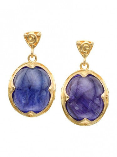 Steven Battelle Tanzanite Dangle Earrings