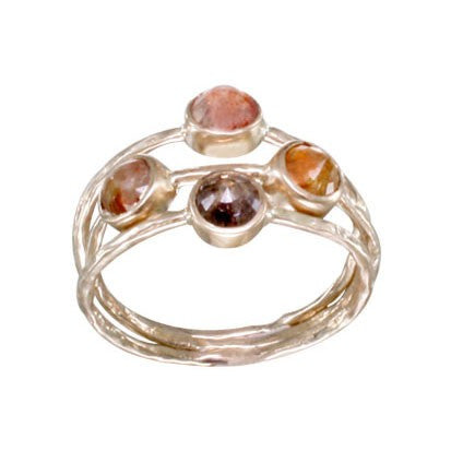 Steven Battelle Four Round Stone Ring