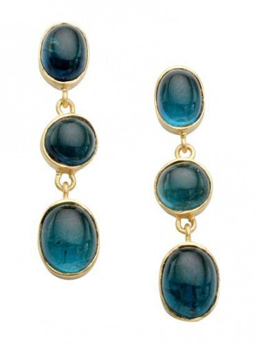 Steven Battelle Three Stone Dangle Earrings