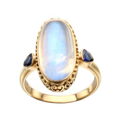 Steven Battelle Long Oval Ornate Ring