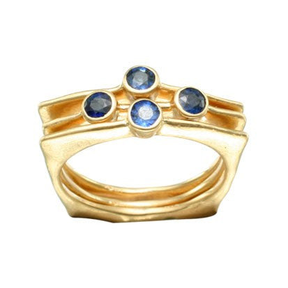 Steven Battelle Four Stone Line Ring