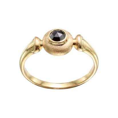 Steven Battelle Black DIamond Basket Ring