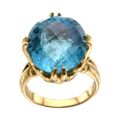 Steven Battelle Faceted Aquamarine Ring