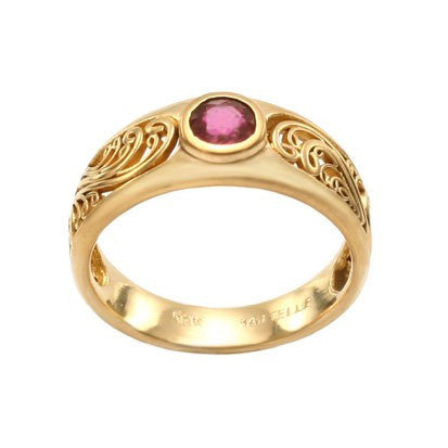 Steven Battelle Ornate Ruby Ring