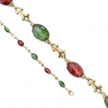 Steven Battelle Faceted Bead Tourmaline Bracelet