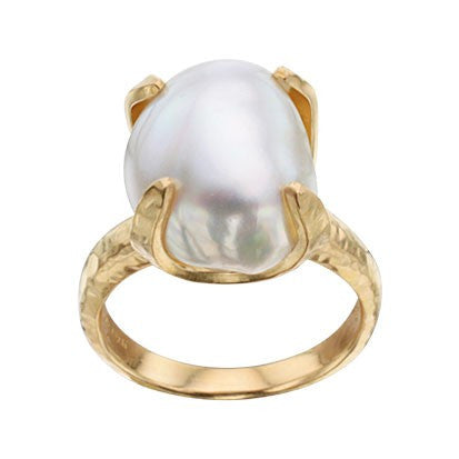 Steven Battelle Four Point Pearl Ring
