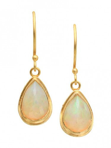 Steven Battelle Pear Opal Earrings