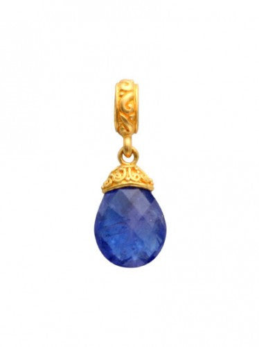 Steven Battelle Carved Tanzanite Pendant Necklace