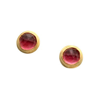 Steven Battelle Bezel Tourmaline Earrings