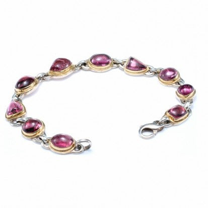 Steven Battelle Mixed Linked Tourmaline Bracelet