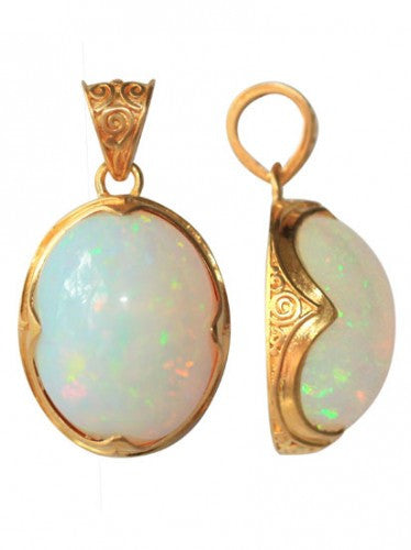 Steven Battelle Opal Dangle Pendant Necklace