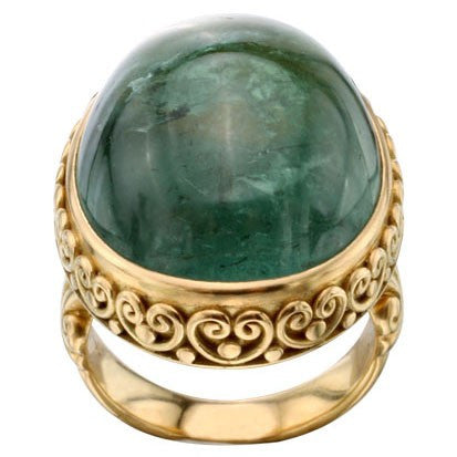 Steven Battelle Large Cabochon Oval Ring