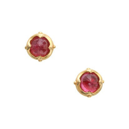 Steven Battelle Four Point Ruby Earrings