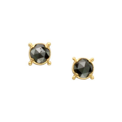 Steven Battelle Four Point Bezel Earrings