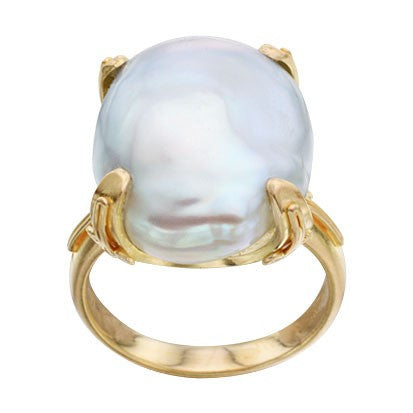 Steven Battelle Prong Pearl Ring