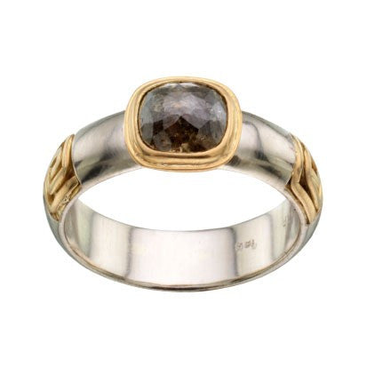 Steven Battelle Three Square Spiral Ring