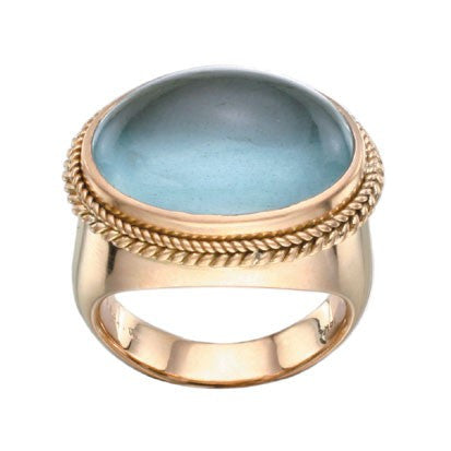 Steven Battelle Large Oval Cabochon Ring