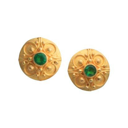 Steven Battelle Graduation Emerald Earrings