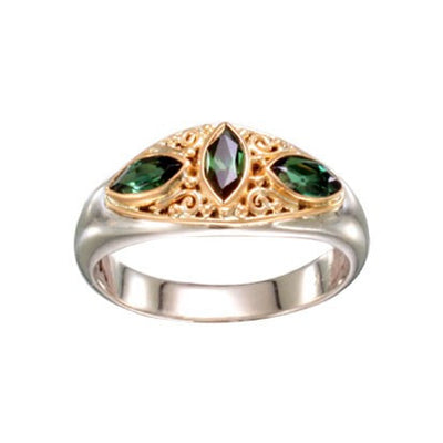 Steven Battelle Three Stone Marquis Ring