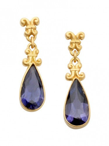 Steven Battelle Dangle Iolite Earrings