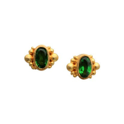 Steven Battelle Gran Tsavorite Earrings