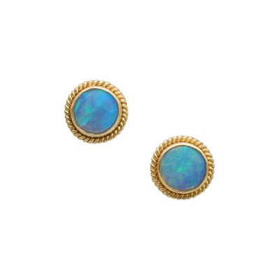 Steven Battelle Braid Opal Post Earrings