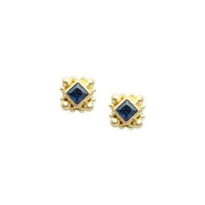 Steven Battelle Square Ornate Post Earrings