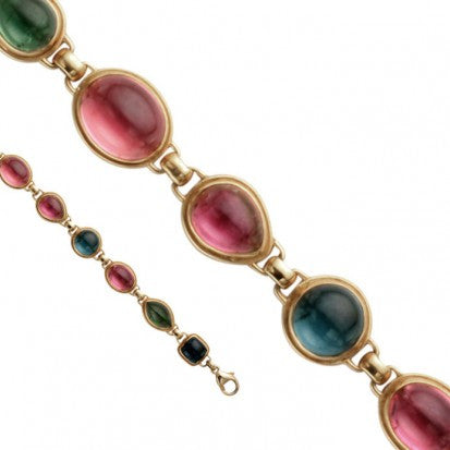 Steven Battelle Mixed Shape Tourmaline Bracelet